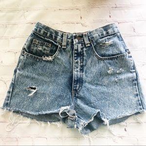 [Zena] Dean Jean vintage high waisted denim shorts
